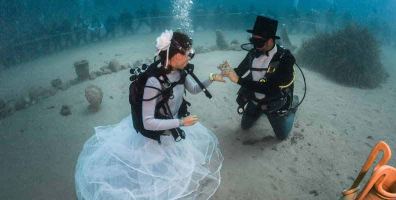 Mariage sous-marin Pierre Frolla