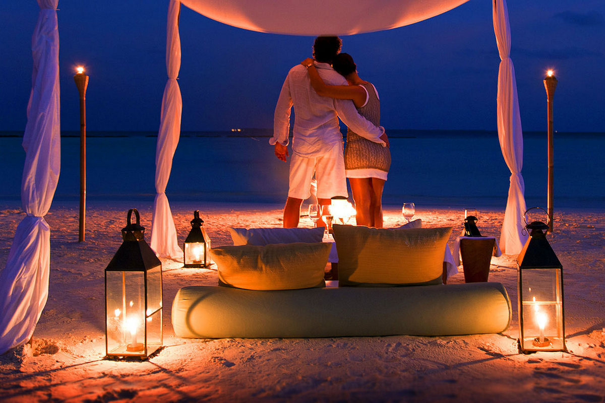 Двое на пляже романтические картинки, для