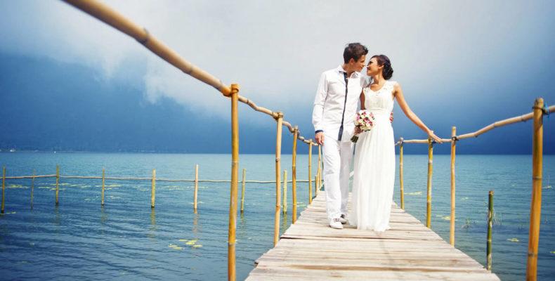 Свадьба в горах на озере на Бали 1