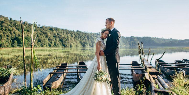 Свадьба в горах на озере на Бали 2