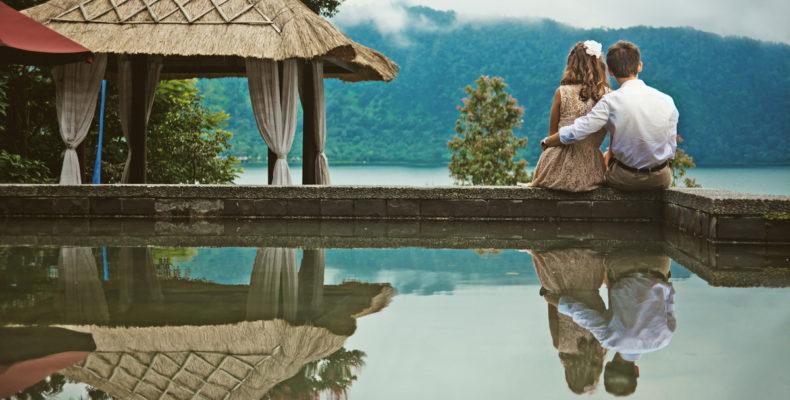 Свадьба в горах на озере на Бали 4