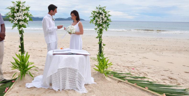 Daven - wedding set up on the beach