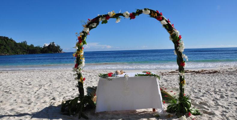 wedding on the beach set up- Daven