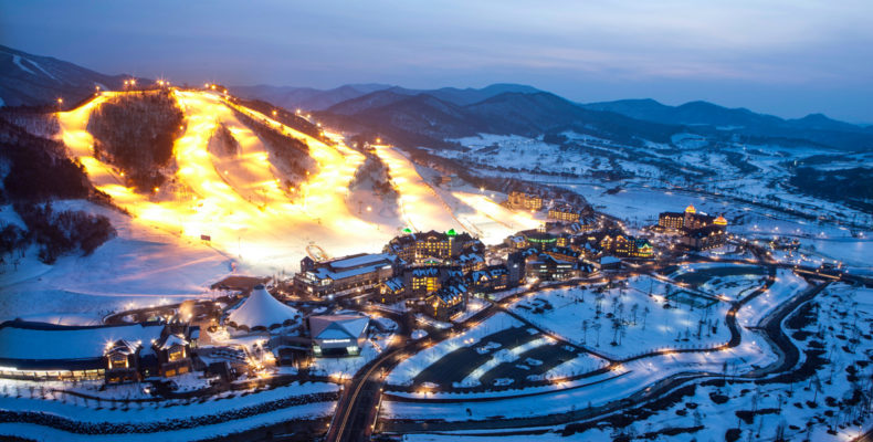 горные лыжи в корее 2