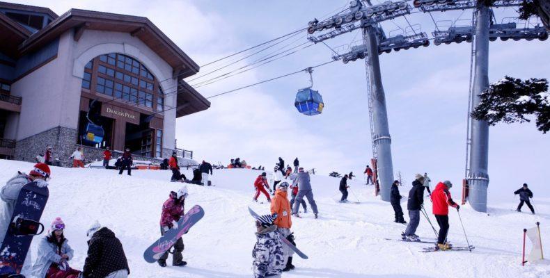 горные лыжи в корее 3