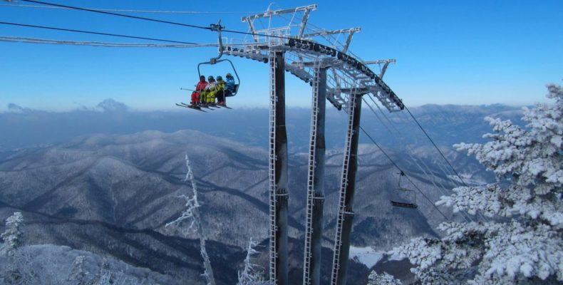 горные лыжи в корее 4