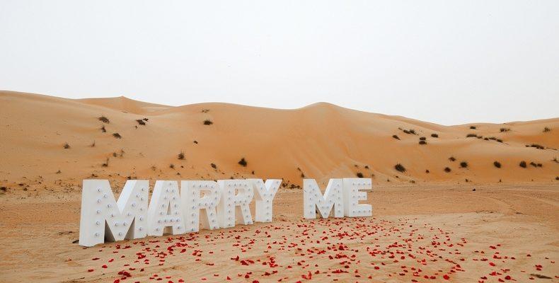 Предложение руки и сердца в пустыне Дубая 2