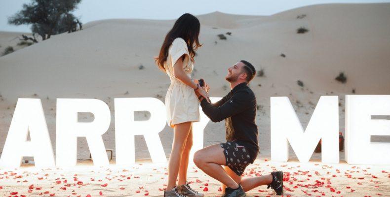 Предложение руки и сердца в пустыне Дубая 5